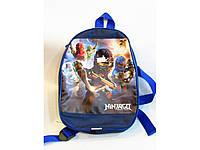 Детские рюкзачки 20*27 (принт синий)