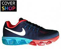 Кроссовки Nike Air Max - Tailwind 8, темно - синие, материал - текстиль+Flyknit, подошва - гелевая