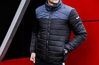 "Мужская зимняя куртка Pobedov Winter Jacket "" Rise "" Navy-Black, фото 1"