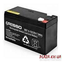 Аккумуляторная батарея для ИБП GRESSO Аккумуляторная батарея для ИБП GRESSO GR12V-7.5Ah 12В 7,5Ач