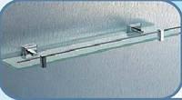 Полка для ванной комнаты KB 9927 (стекло с бортом, латунь)