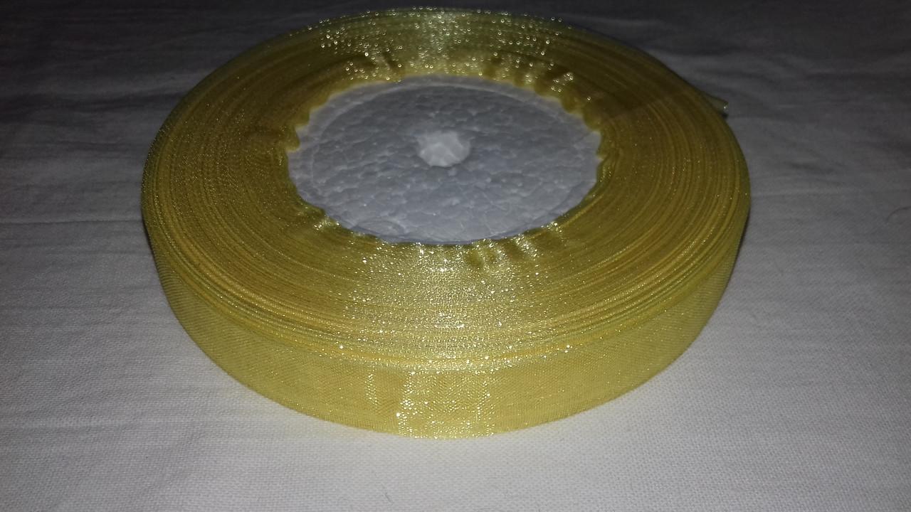 Органза 1,5 см 45 м желтая