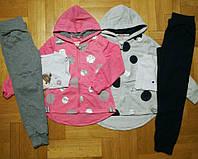 Трикотажный костюм-тройка для девочек  оптом, F&D, 104/110-128/134  рр., арт.7232