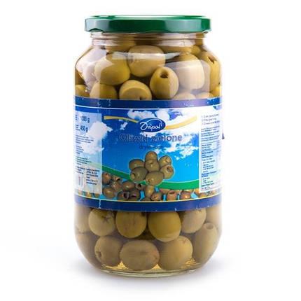 Оливки зелёные без косточек Dripol 1kg, фото 2