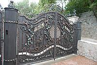 Кованые ворота с колоннами, фото 1