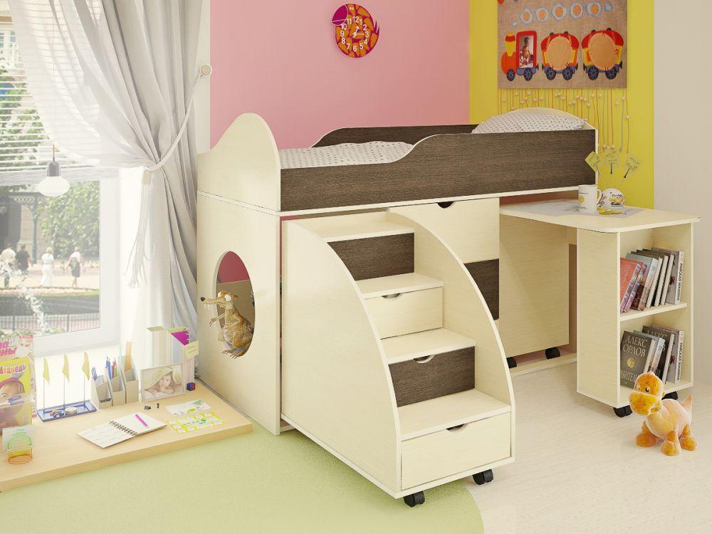 Кровать-чердак Горка в детскую комнату от производителя