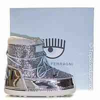 Moon Boots (луноходы)Chiara Ferraghi черные серебро, фото 1