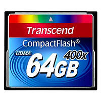 Карта памяти SDHC Transcend CompactFlash 64GB 400x (TS64GCF400)