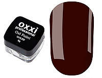 Гель-краска OXXI № 10, (коричневая) 5 г