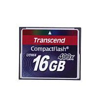 Карта памяти Compact Flash 16Gb 400х Transcend (TS16GCF400)