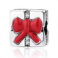"""Шарм Pandora Style (стиль Пандора) """"Рождественский подарок"""""""