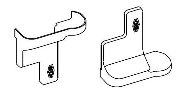 Комплект накладок на ходовой комплект Серебристый