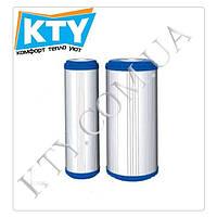 Картридж комбинированный Aquafilter FCCBKDF210BB (уголь+полипропилен+KDF, с умягчающей загрузкой, для корпусов фильтров типа 10В