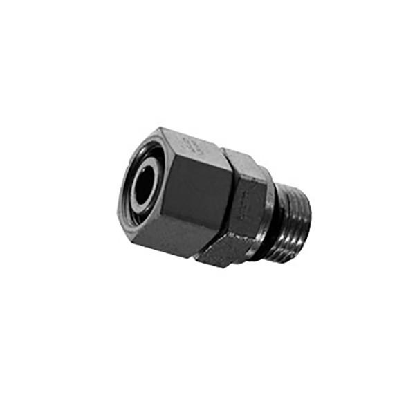 Прямое резьбовое соединение - адаптер EGE с несъемной гайкой и уплотнительным кольцом