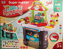 Детский супермаркет Магазин, касса, сканер - звук, свет, продукты, деньги, 61 предмет