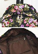 Міські рюкзаки з квітковим принтом. Рюкзак з квітами, фото 3