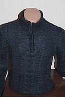 Мужской свитер DeltaSun, стойка на замок, вязка