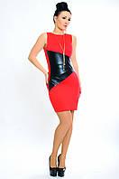 Красное короткое платье -Bugatti-