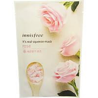 INNISFREE It's Real squeeze mask ROSE - Тканевая маска с экстрактом розы