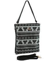 Жіноча молодіжна сумка - планшет з принтом., фото 3