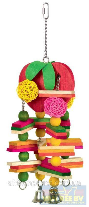 """Nobby игрушка для попугая""""яблоко"""" с ивовых шаров около 44 см"""