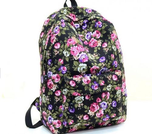 Жіночі міські рюкзаки з квітами. Молодіжні рюкзаки. 17 літрів
