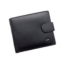 Мужской кошелек Dr. Bond Classic из натуральной кожи. Кожаное портмоне. Черный и коричневый цвет.