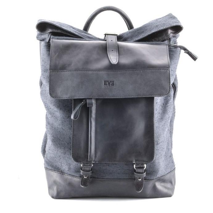 Крутой рюкзак для мужчин из кожи и прочной ткани