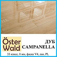 Ламинат покрытый лаком толщиной 8 мм Oster Wald Piano 33 класс Дуб Campanella