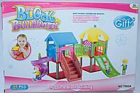 Домик, игровая площадка, с фигурками, в коробке 32*12*22 см.