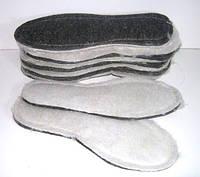 Стельки для обуви фетровые на искусственном меху