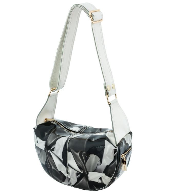 Кожаная женская сумка - мешок.