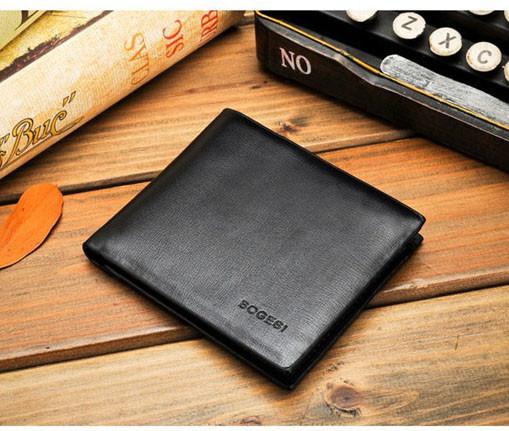 Чоловічий гаманець Bogesi. Коричневий і чорний. Портмоне.