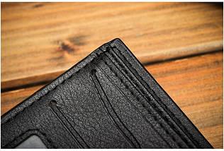 Чоловічий гаманець Bogesi. Коричневий і чорний. Портмоне., фото 2