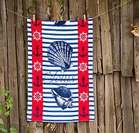 Велюровое полотенце Lotus пляжное Ocean Breeze 75*150