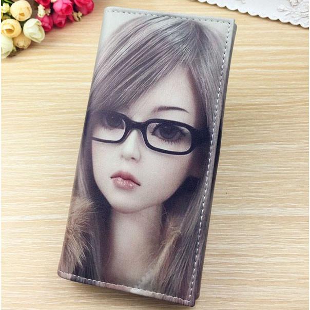Молодіжний гаманець з малюнком. Жіночий гаманець з принтом.