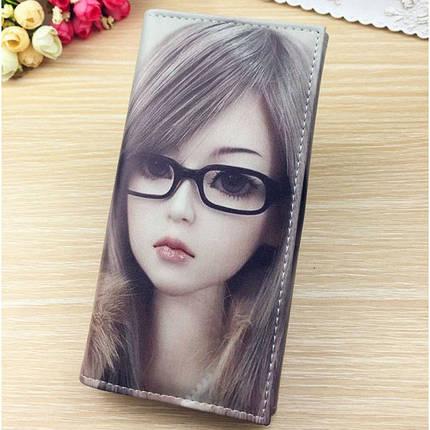 Молодіжний гаманець з малюнком. Жіночий гаманець з принтом., фото 2