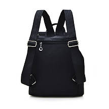 Жіночий молодіжний рюкзак чорного кольору. Міський рюкзак., фото 3
