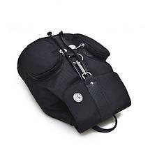 Жіночий молодіжний рюкзак чорного кольору. Міський рюкзак., фото 2