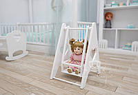 """Качелька кукольная """"Baby love"""" White. МДФ, ольха"""