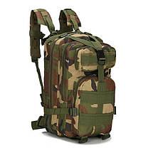 Туристичні рюкзаки, 20-25 л. Рюкзак камуфляжний. Чорний, зелений з листям, зелений..., фото 2