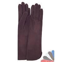 Женские перчатки длинные из натуральной кожи модель 331.