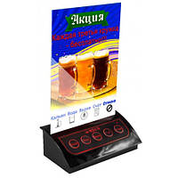 Универсальная кнопка вызова официанта R-305 Black Holder RECS USA в виде подставки для меню или рекламы