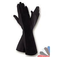 Женские перчатки длинные из натуральной кожи модель 333.