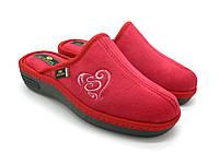Домашние обувь Spesita.Женские закрытые тапочки, танкетка, анатомическая подошва, красный (36-41)