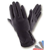 Женские перчатки из натуральной кожи на шелковой подкладке модель 363.