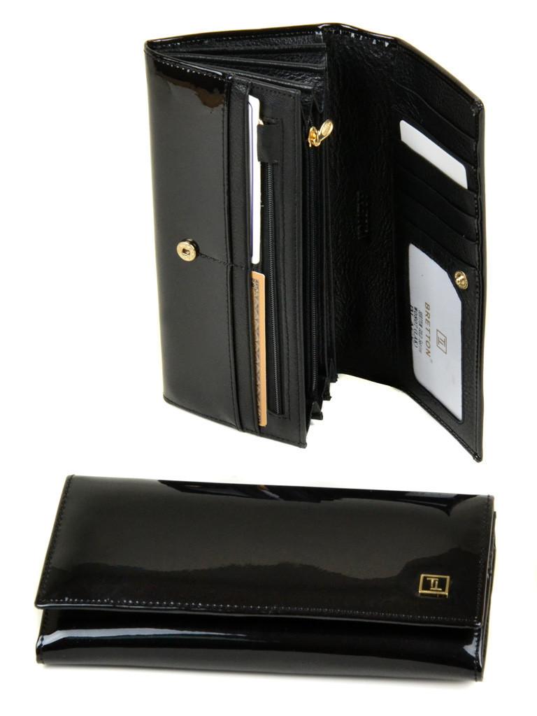 Великий шкіряний гаманець Bretton. Лакові гаманці жіночі.