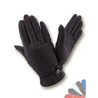 Женские перчатки из натуральной кожи на шелковой подкладке модель 366.