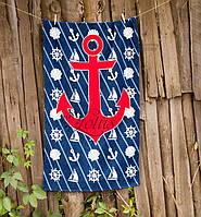 Велюровое полотенце Lotus пляжное Sea Adventure 75*150