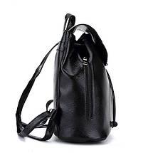 Рюкзак жіночий з квітковим принтом. Чорний, фото 3